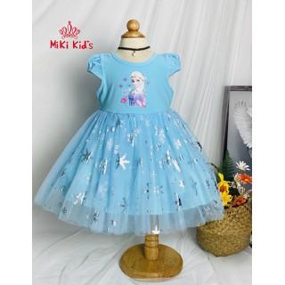 Váy Đầm Bé Gái Elsa đầm elsa cho bé gái váy elsa đầm công chúa elsa Size 1-8