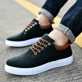 Giày Thể Thao Nam Kiểu Dáng Đơn Giản Chất Liệu Khaki - Giày Thể Thao Nam Bigsize thumbnail