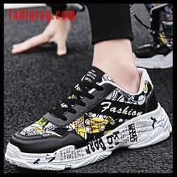 FREESHIP Giày Sneaker Nam Fashion Sneaker Đẹp Giầy Giày Nam Tăng Chiều Cao Nam Đế Độn Thời Trang Phong Cách Cá Tính