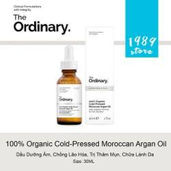 Dầu Dưỡng 100% Organic Cold-Pressed Moroccan Argan Oil The Ordinary