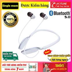 Tai Nghe Bluetooth 5.0 không dây  D01 -Tai Nghe Nhạc-Tai Nghe Thể Thao Đeo Cổ Có Mic Dành Cho mọi dòng máy- Tai nghe thể thao bluetooth 5.0 PIN TRÂU D01 - HÀNG NHẬP ( Có hỗ trợ thẻ nhớ 32GB)