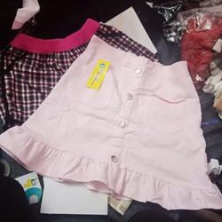 Chan váy đuôi cá màu hồng   combo 2 món