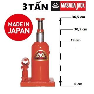 Kích thủy lực Nhật MASADA 3 Tấn - kichnhat3tan thumbnail