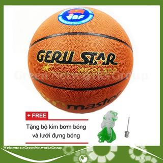 Quả bóng rổ số 7 Gerustar tặng bộ kim bơm bóng và lưới đựng bóng Greennetworks - 0101100205000 thumbnail