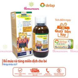 Siro Fitobimbi Ferro C bổ sung sắt kẽm Vitamin C cho bé chai 200ml tăng cường đề kháng miễn dịch phòng ngừa thiếu máu não ở trẻ giúp bé thông minh ăn ngon giảm tình trạng biếng ăn gầy thấp bé còi cọc xương yếu ốm vặt nhập khẩu từ Châu Âu