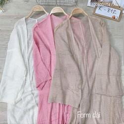 Áo khoác len mỏng form dài chuẩn đẹp!