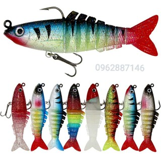 mồi câu cá giả mồi 6 đoạn 9cm 16g siêu nhậy - mồi câu cá giả mồi 6 đoạn 9cm 16g siêu nhậy thumbnail