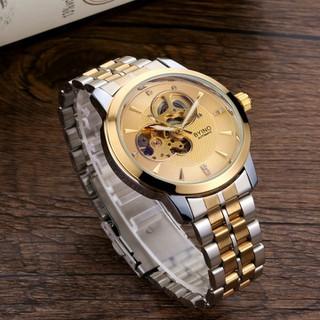 [Tặng kèm vòng thạch anh]Đồng hồ nam BYINO 8082- Đồng hồ cơ BYINO Automatic mặt kính tráng sapphire, dây đúc đặc cao cấp, máy lộ cơ tinh xảo [ĐƯỢC KIỂM HÀNG] - 40646843 thumbnail