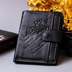 FREESHIP - Ví da bò nam cao cấp hiệu LEVIS, Bóp nam hàng hiệu da bò cao cấp, da mềm nhiều ngăn tiện lợi