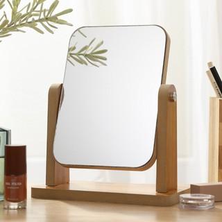 Gương trang điểm gương soi để bàn cao cấp gương soi di động bằng gỗ xoay gập tiện lợi phong cách châu Âu - Tặng băng đô trang điểm bằng lụa nhung màu ngẫu nhiên - BB21-1 thumbnail