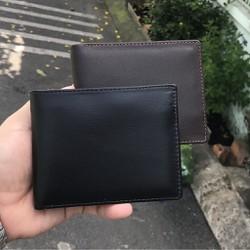 [DA BÒ THẬT 100%] Ví da nam, Bóp da nam cao cấp, tặng hộp đựng-AL018 TẶNG DAO CẠO RÂU 30k