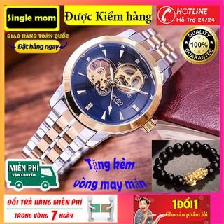 [Tặng kèm vòng thạch anh]Đồng hồ nam BYINO 8082- Đồng hồ cơ BYINO Automatic mặt kính tráng sapphire, dây đúc đặc cao cấp, máy lộ cơ tinh xảo - đồng hồ byino thumbnail