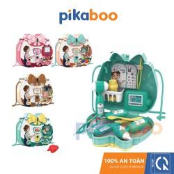 Đồ chơi trẻ em Hộp đựng đồ trang điểm/ khám bệnh/ dã ngoại/ phụ kiện dự tiệc Pikaboo, 16 món, chất liệu nhựa dày bóng, an toàn