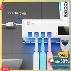 Bộ nhả kem đánh răng khử khuẩn bàn chải đánh răng thông minh bằng đèn UV tiện dụng