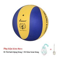 Bóng chuyền Thăng Long 6800 Xoáy Tặng Túi đựng bóng, kim bơm bóng tiêu chuẩn