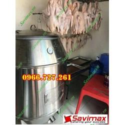 Lò quay gà vịt, lu nướng gà vịt inox phi 80  tặng móc xiện tại Phú Thọ