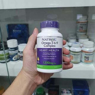 [ Date 04.2021 ] Viên uống bổ tim mạch Natrol, Omega 3-6-9 Complex, Lemon Flavor, 1,200 mg 90 viên - Omega 3-6-9 thumbnail