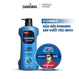 Combo Dầu gội nam Dashing Dynamic 650g và Sáp vuốt tóc Dashing Revo 75g