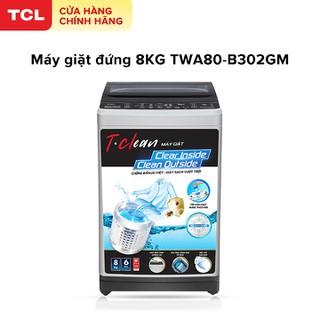 Máy Giặt TCL 8,0Kg Lồng Đứng TWA80-B302GM. Dòng Máy Giặt Cao Cấp Với Thiết Kế Lồng Giặt Tổ Ong, Siêu Rộng , Chế Độ Vắt Cực Khô. Gian Hàng Chính Hãng . Bảo Hành 2 Năm