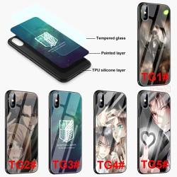 Ốp điện thoại kính cường lực in hình attack on titan cho iphone 6/6s/6+/6s+/7/+/8/+/x/xr/xs/max - A1135