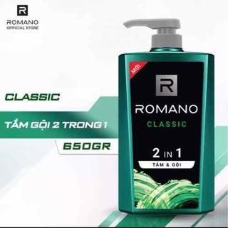 Dầu tắm gội Romano Classic 2 trong 1 650g