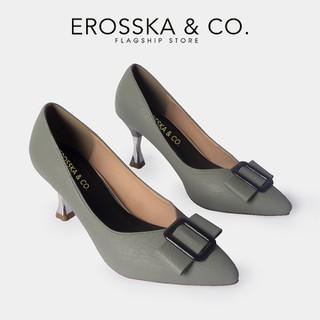 Giày cao gót Erosska thời trang nữ mũi nhọn đính khóa vuông kiểu dáng công sở cao 7cm màu xanh _ CP008 - CP008GE thumbnail