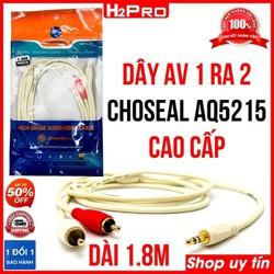 Dây av 1 ra 2 Choseal AQ5215 H2Pro chính hãng, dây av 1 ra 2 cao cấp dài 1.8m, 3m, 5m, 10m