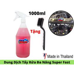 Dung Dịch Tẩy Máy ,Rửa Xe Siêu Mạnh Super Fast Không Bay Màu Rỉ Sét Máy 1000ml Tặng Bàn Chải