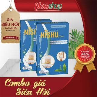 [Combo 2 Hộp] Viên uống giảm cân nhanh Nishu Slim. Hộp 20 viên - CBGCNS22 thumbnail