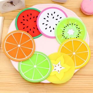 Miếng lót ly trái cây nhựa dẻo xinh xắn (combo 5 miếng) - LMY01 thumbnail