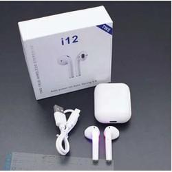 [FreeShip] Tai Nghe Bluetooth I12 TWS 5.0 Không Dây Có Đế Sạc Cảm ứng Vân Tay L1 [ĐƯỢC KIỂM HÀNG]