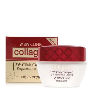 Combo Nước hoa hồng & Kem dưỡng trắng chống lão hoá 3W Clinic Collagen Regeneration Softener 150ml Cream 60ml - 826087909 6