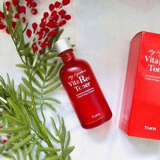 Nước Hoa Hồng Dưỡng Trắng Se Khít Lỗ Chân Lông Tiam My Signature Vita Red Toner 130ml Tặng 1 Toner Tiam Minisize 40ml - 6848058967 2