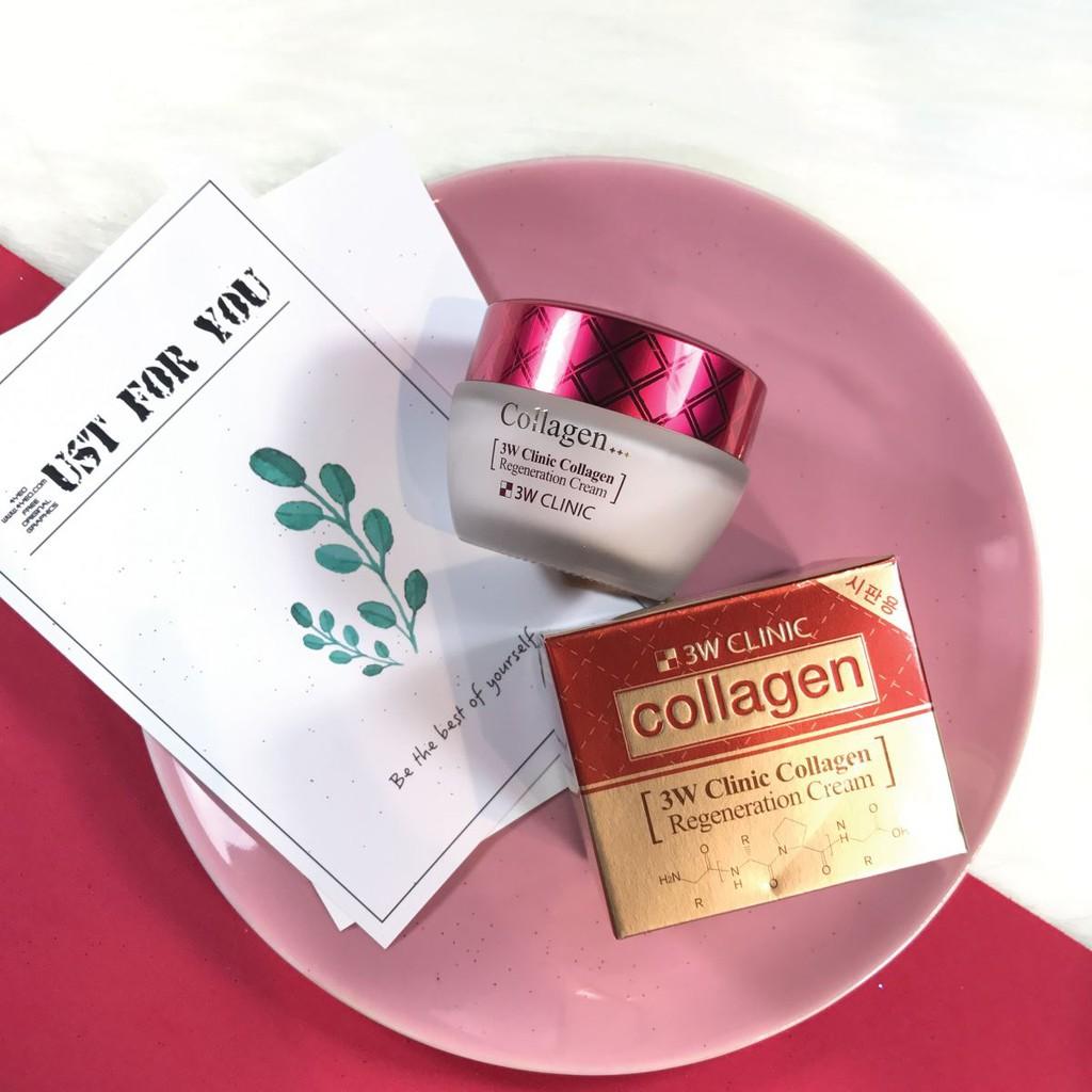 Combo Nước hoa hồng & Kem dưỡng trắng chống lão hoá 3W Clinic Collagen Regeneration Softener 150ml Cream 60ml - 826087909 3