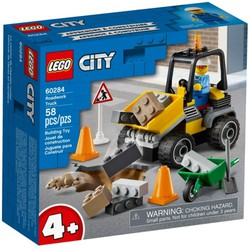 LEGO 60284 City - Xe Xúc Lật Sửa Chữa Đường