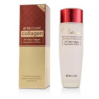 Combo Nước hoa hồng & Kem dưỡng trắng chống lão hoá 3W Clinic Collagen Regeneration Softener 150ml Cream 60ml - 826087909 5