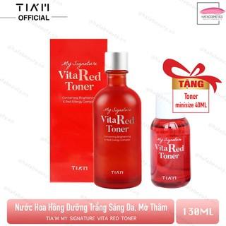 Nước Hoa Hồng Dưỡng Trắng Se Khít Lỗ Chân Lông Tiam My Signature Vita Red Toner 130ml Tặng 1 Toner Tiam Minisize 40ml - 6848058967 1
