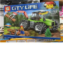 CHẤT LIỆU AN TOÀN CHO BÉ - Lego City Lìfe Xe Cẩu 6961 CR4070- Mua