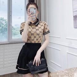 Sét áo phông có cổ phối chân váy
