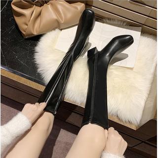 Bốt dài nữ da Hàn Quốc khoá kéo cao cấp sang trọng BH37 - BH37 thumbnail