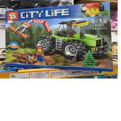 NGỘ NGHĨNH ĐÁNG YÊU - Lego City Lìfe Xe Cẩu 6961 BS4070- Tổng Kho