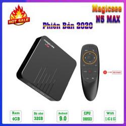 Android TV Box Magicsee N5 Max-Chip Amlogic S905 X3 siêu khủng