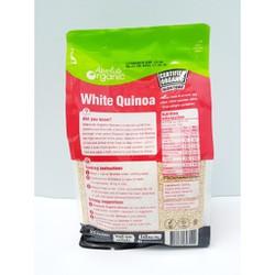 Hạt Diêm Mạch Trắng White Quinoa Absolute Organic 1kg - Tốt cho phụ nữ mang thai, trẻ ăn dặm, vận động viên. Giúp tăng cường trí nhớ, chống loãng xương ở người già, hỗ trợ giảm cân.