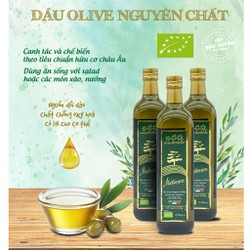 Dầu olive nguyên chất ép lạnh hữu cơ 750ml Sottolestelle Organic Olive Oil - Size 750ml