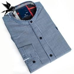Áo sơ mi nam dài tay cổ trụ chất vải cotton dày mềm mịn kiểu dáng slimfit từ 45kg-85kg