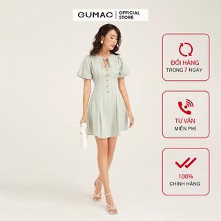 Đầm khoét cổ dây nơ GUMAC DB1143 - DB1143 thumbnail