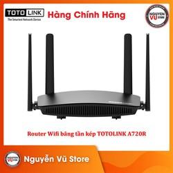Router Wifi Băng Tần Kép AC1200 TOTOLINK A720R - Hàng Chính Hãng