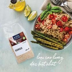 Hạt siêu cao lương (bobo ) hữu cơ đã bóc vỏ Sotto 500g Organic Sorghum - Gói 500g