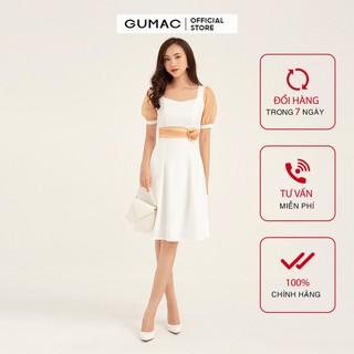 Đầm eo hoa tay phối GUMAC DB159 - DB159 thumbnail