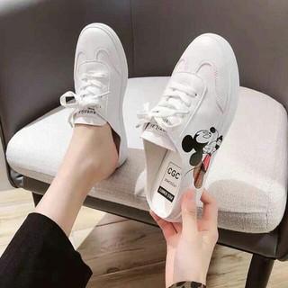 Giày lười nữ chuột Mickey siêu dễ thương - giày lười nữ thumbnail
